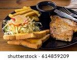 chicken steak | Shutterstock . vector #614859209