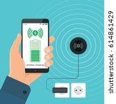 the process of wireless... | Shutterstock .eps vector #614861429