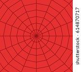 red spider web  cobweb ... | Shutterstock .eps vector #614870717