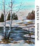 Picture Oil Paints On A Canvas...