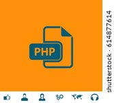 php file extension. blue symbol ... | Shutterstock .eps vector #614877614