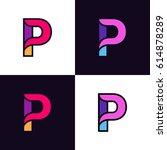 Clean Colorful Letter P Logo...