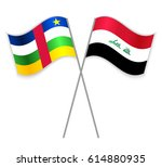 central african and iraqi... | Shutterstock .eps vector #614880935