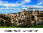 panoramic view of urbino  italy | Shutterstock . vector #614884004