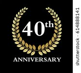 40 year anniversary. vector... | Shutterstock .eps vector #614888141