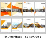 vector brochure cover templates ... | Shutterstock .eps vector #614897051