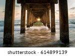View Under The Bridge Into Sea...
