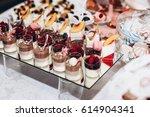 delicious tiramisu. candy bar... | Shutterstock . vector #614904341