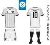 set of soccer kit or football... | Shutterstock .eps vector #614909141