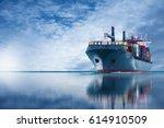 ship with international... | Shutterstock . vector #614910509