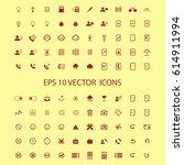 100 universal vector icon set... | Shutterstock .eps vector #614911994