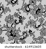 seamless black vector lace... | Shutterstock .eps vector #614913605