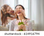 happy mother's day  child... | Shutterstock . vector #614916794