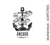 Anchor Engraved Vintage In Old...