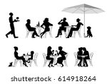 Stock vector a vector illustration of group of people series of fashion people men and women sitting and 614918264