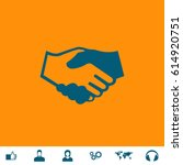 handshake for business and... | Shutterstock .eps vector #614920751