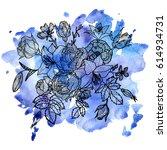 vintage vector floral...   Shutterstock .eps vector #614934731