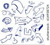 set of arrows on a school... | Shutterstock .eps vector #614938724