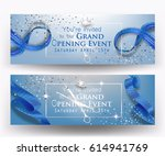 grand opening blue banners with ... | Shutterstock .eps vector #614941769