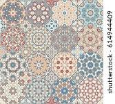 set of vector seamless arabic... | Shutterstock .eps vector #614944409
