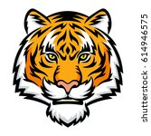 a tiger head logo. this is... | Shutterstock . vector #614946575