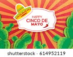 happy cinco de mayo greeting... | Shutterstock .eps vector #614952119