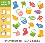 counting game for preschool... | Shutterstock .eps vector #614953661