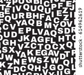seamless pattern with letters.... | Shutterstock .eps vector #614962619