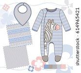 vector fashion illustration of... | Shutterstock .eps vector #614965421