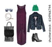 still life of urban clothing...   Shutterstock . vector #614966744