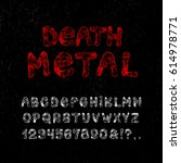 death metal font. craft vintage ... | Shutterstock .eps vector #614978771