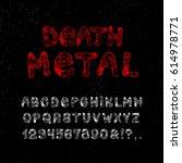 death metal font. craft vintage ... | Shutterstock .eps vector #614978771
