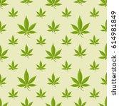 seamless pattern with marijuana ...   Shutterstock .eps vector #614981849