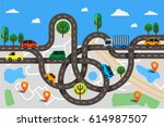 colorful vector illustration in ... | Shutterstock .eps vector #614987507