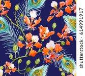 Watercolor Tropical Pattern...