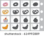 match shadow   worksheet for... | Shutterstock .eps vector #614992889