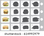 match shadow   worksheet for... | Shutterstock .eps vector #614992979