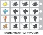 match shadow   worksheet for... | Shutterstock .eps vector #614992985