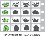 match shadow   worksheet for... | Shutterstock .eps vector #614993009