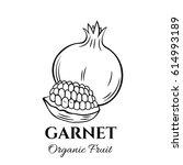 hand drawn garnet icon. vector... | Shutterstock .eps vector #614993189