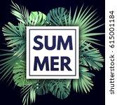 green summer tropical... | Shutterstock .eps vector #615001184