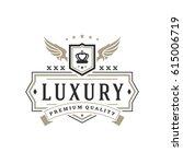 luxury logo template vector... | Shutterstock .eps vector #615006719