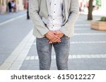 young man prostate problem on... | Shutterstock . vector #615012227