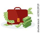 leather brown banker... | Shutterstock .eps vector #615013919