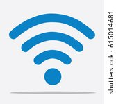 wi fi icon  vector illustration ... | Shutterstock .eps vector #615014681