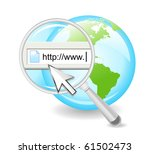 a magnifying glass is searching ... | Shutterstock .eps vector #61502473