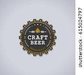 Beer Bottle Cap Shaped Badge...