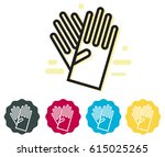 safety gloves icon  ...   Shutterstock .eps vector #615025265