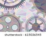 illustration of gear wheel... | Shutterstock . vector #615036545