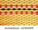 Texture Of Weave Reed Handcraft
